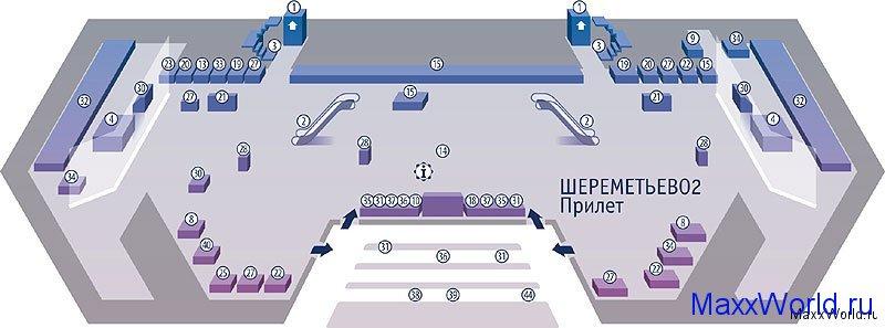 Схема зала прилета